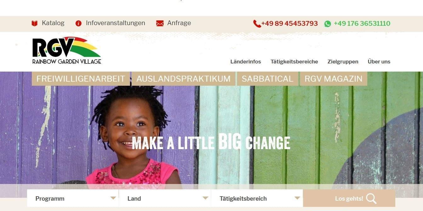Online Marketing für Freiwilligenarbeit und Auslandspraktikum Bild