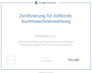 Adwords Professional Zertifikat 2017