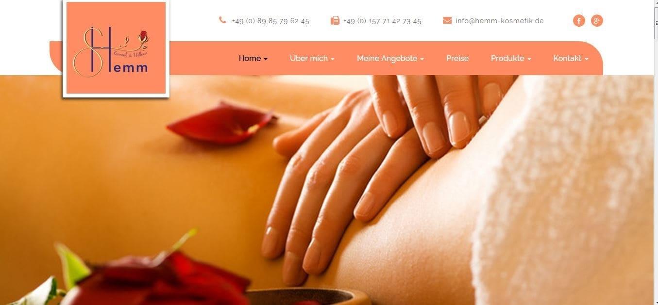 Online Marketing für ein Kosmetikstudio