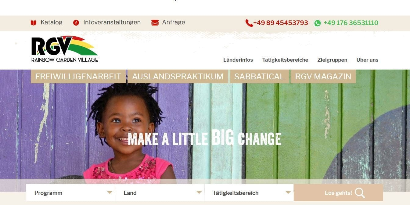 Online Marketing für Freiwilligenarbeit und Auslandspraktikum