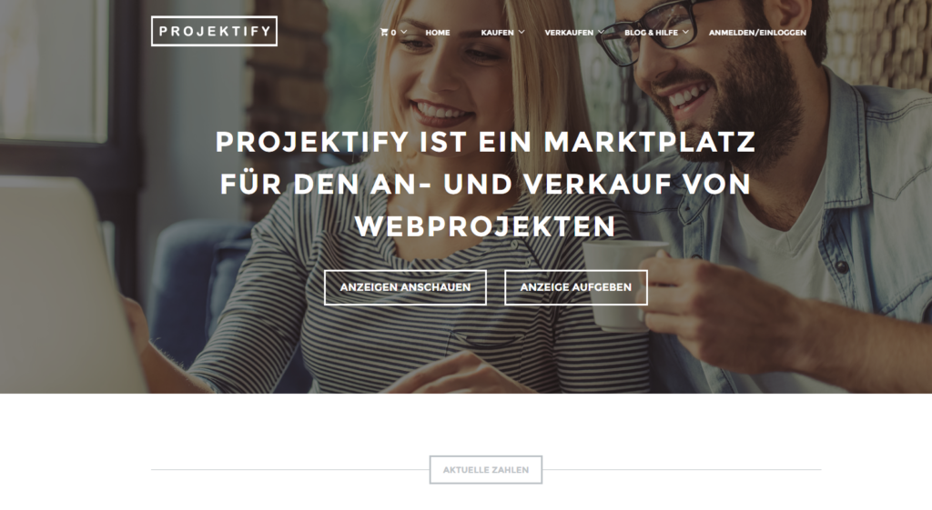 Online Marketing für Website Verkaufsplattform