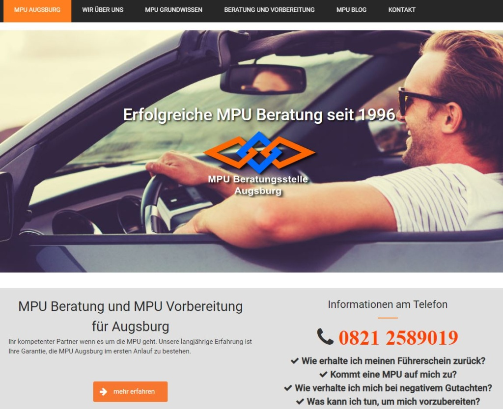 Online Marketing für MPU Vorbereitung