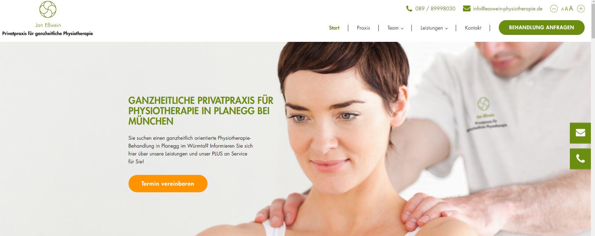 Online Marketing für eine Physiotherapie Praxis